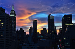 NYsunset (elizaroff) Tags: manhattan rooftop sunset newyork newyorkcity 2016 summer2016 nyc ny nycrooftops skyline sky skyscrapers manhattanskyline newyorkskyline esb empirestatebuilding midtown 39th