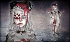 Horror Story.... (N G H T M R) Tags: dark dead doll gothic goth creepy sl secondlife gore