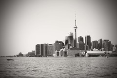 Toronto,ON (SONICGREGU) Tags: blackwhite canada toronto cntower ontario torontowaterfront torontojune2016