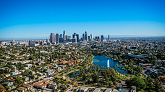 20160721 DTLA Aerial -13 (Tony Castle) Tags: aerial photography helicopter heli canon 5diii sony a7rii mirrorless sigma mc11 converter sky city la dtla los angeles traffic