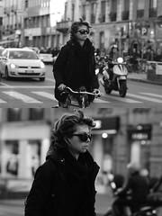 [La Mia Citt][Pedala] (Urca) Tags: milano italia 2016 bicicletta pedalare ciclista ritrattostradale portrait dittico nikondigitale mir bike bicycle biancoenero blackandwhite bn bw 87290