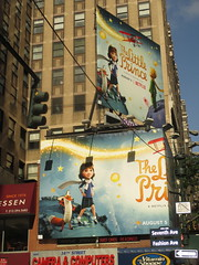 The Little Prince Billboard 7th Ave NYC 3311 (Brechtbug) Tags: the little prince billboard 7th ave 35th street nyc stop motion computer animation french childrens book philosophy philosophical puppets puppetry netflix children fantasy space planets planes aviation worlds small kids animals animal story 08122016 new york city streets avenues st