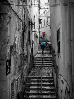 Stairway - Beco dos Lóios - Lisbon, Portugal