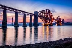 Forth Rail Bridge (RavyDavy1980) Tags: forthrailwaybridge forthrailbridge forth water sunset dusk goldenhour train railway bridge scotland southqueensferry edinburgh summer evening longexposure sonyalphaa77ii tamron1024mm wideangle fife