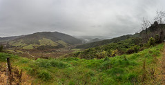 Neuseeland - New Zealand Panorama (Holger Losekann) Tags: landscape landschaft neuseeland newzealand southisland sdinsel takakahill tasman nz abeltasman abeltasmannationalpark clouds wolken himmel sky hgel hills