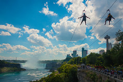 Zipline to the Falls (A Great Capture) Tags: agreatcapture agc wwwagreatcapturecom adjm on ontario canada canadian photographer ash2276 ashleylduffus ald mobilejay jamesmitchell summer summertime 2016 niagarafallscanada goldenhorseshoe horseshore falls water sky blue clouds skyline green trees skylon tower buildings building skylontower zip line ong icanfly wildplaysmistriderziplinetothefalls people fun amuesment new attraction tourist nf niagarafalls zipline scenery ig