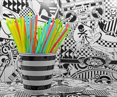 The Flickr Lounge: Colour POP (Sue90ca Tornados Hit Just South Of Here) Tags: canon 6d theflickrloungeweeklytheme colourpop straws black