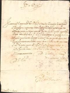 Il Cardinale Borghese a Marco Pio di Savoia, lettera del 13 luglio 1596 (ALPE, Autografi, b.3, 18)