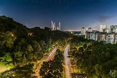 The View from Henderson Waves Bridge, Singapore (KSAG Photography) Tags: hdr longexposure night lighttrails singapore asia travel landscape urban city cityscape lights