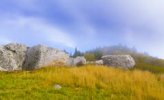 Spruce Knob West Virginia. (popago) Tags: peaks ridge sky westvirgina spruceknob landscape mist fog grasses boulders highlands autumn