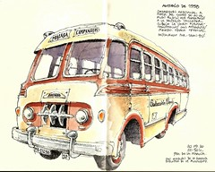Austin-BMC 1958 (Luis_Ruiz) Tags: vintage vehicle coach bus sketch automviles olmedo mlaga transport austin bmc classic