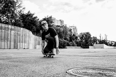 IMG_3328 (Alexey Gers) Tags: skateboard skater extreme blackandwhite shadow summer jump action