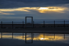 Little Eye Abstract (David Chennell - DavidC.Photography) Tags: wirral westkirby reflection littleeye marinelake moody abstract merseyside sunset cloudy