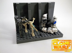 """Here they come!"" (legomaster1378) Tags: lego star wars the clone moc vig clones droids battle scene"