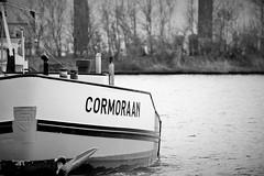 schip Cormoraan (nathalien2015) Tags: haven ship zwartwit harbour drachten schip vaartuig vrachtschip cormoraan
