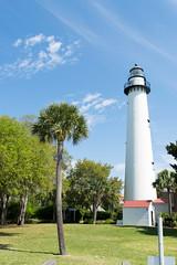 Saint Simon Island Lighthouse (denis_wright) Tags: ocean trees lighthouse simon saint georgia island living palm