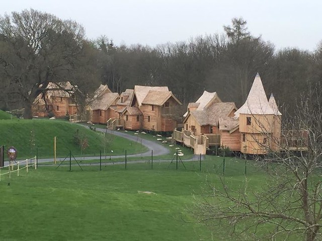 16/04/2015 - One final look at the luxury treehouses before they open.