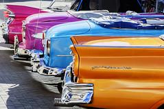 Cuban rainbow of cars (vikkiq) Tags: auto classic cars car vintage rainbow automobile havana cuba cuban