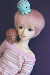Tako friends (HoshiBerry ★) Tags: pink ball doll lbi araki bjd abjd alchemic msd jointed labo unoa gentaro takochu