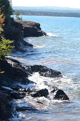 Presque Isle Park (turn off your computer and go outside) Tags: park water up mi rocks waves shoreline sunny september greatlakes lakesuperior marquette 2014 clearday uppermichigan presqueislepark