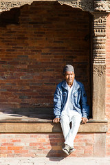Seated (Gigin - NoDigital) Tags: nepal people man asia kathmandu geography