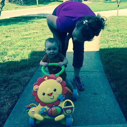 Learning to walk, day 3, outside! #day285