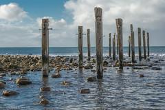 Myponga Beach Apostles (Sharon Wills) Tags: ocean sea beach water ruins rocks jetty waterscape beachscapes mypongabeach