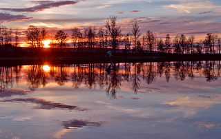 Reflections #Finland. #Spring. #Sunset on the lake
