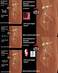 Butterfly hand fitmesh jewellery (Zed Sensations) Tags: eve silver gold hand slim jewelry ring jewellery ornaments bangle tonic sensations belleza zed physique hourglass accessory slink pulpy ebody