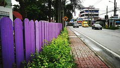 Thailand The OO Mission Blue Fence Bangchalong Samut Prakan Street Buildings (markusg2010) Tags: street blue fence buildings thailand samutprakan bangchalong theoomission