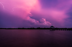 Storm on the Sound (Longleaf.Photography) Tags: storm lightening clouds sound wetland march surfcity nc coast beach sunset topsail