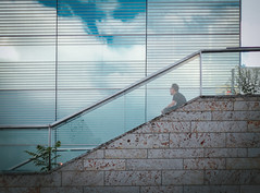 The Cube (freyavev) Tags: stuttgart badenwrttemberg museum reflections lines abstract people vsco 50mm stairs niftyfifty canon