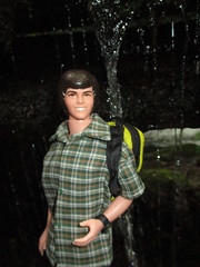 Behind the Falls (larry_boy17) Tags: barbie ken doll dolls friend friends donnyosmond donnyosbourne handmade shirt clothes backpack moldedhair water waterfall watch adventure outside outdoor outdoors nature people plastic toy toys vacation trip getaway hike hiking smile greatsmokymountains nationalpark national park centennial 100yrs findyourpark falls gsmnp gatlinburg tennessee northcarolina