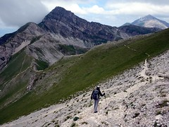 Traversing from Monte Portello, with Pizzo Cefalone up ahead (markhorrell) Tags: italy walking abruzzo gransasso apennines pizzocefalone