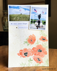 Penny Black - Poppies for Utah Beach (alexandra s.m.) Tags: poppies coquelicots pennyblack stamping whiteemboss heatembossing scrapbooking