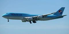 Boeing 747-8B5, Korean Air Lines, HL7636 (Carl Tang) Tags: koreanair boeing747 7478i 7478b5 carltang ke601 vhhh 25r ke kal hongkonginternationalairport boeing