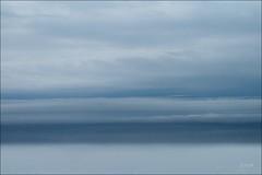 Beetween sky and sea......... (sophie.lamidiaux) Tags: mer ocean paysage ciel bleu nuage brume rothko