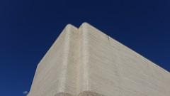 Boettcher Corner (Mamluke) Tags: hardyholzmanpfeifferassociates 1978 1970s curves curved corner back rear building architecture boettcher boettcherconcerthall theatre brick denver colorado denvercolorado mamluke sky ciel blue up top