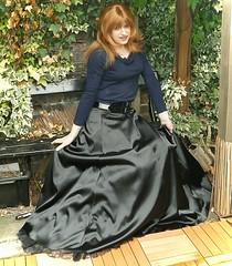Seating Area (Amber :-)) Tags: black long skirt crossdressing tgirl transvestite satin