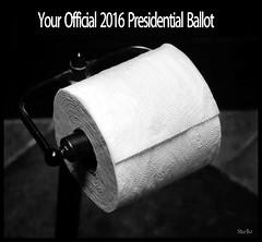 free rolling... (Stu Bo.. tks for 8 million views) Tags: myheadhurts election2016 vote usa merica trump hillary blackwhitephotos bw humor satire omg