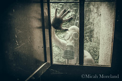 Don't Go Outside (micahmoreland) Tags: creepy horror surreal surrealism surrealist conceptual costume wheezer world war 2 ii dystopian scary haunting wet plate grunge texture male toxic death danger gas mask thin skinny abandoned house urbex urban exploration kitchen disturbing comical