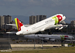 TAP Air Portugal A320-200 CS-TQD (birrlad) Tags: lisbon lis portugal international airport aircraft aviation airplane airplanes airline airliner airlines airways takeoff rotate climbing runway departing departure tap airportugal airbus a320 a320200 a320214 cstqd