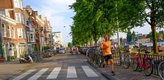 DSCF1436.jpg (amsfrank) Tags: amsterdam oost people candid summer sunshine amstel weesperzijde runner jogging hardlopen