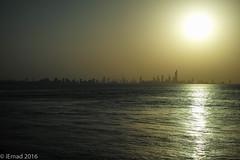 Silhouette of a beautiful city... (EHA73) Tags: summiluxm11450asph leica leicamp typ240 cityscape skyline kuwait kuwaitcity sea silhouette city