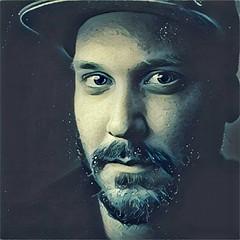 I read prisma is a thing now... (Zesk MF) Tags: water liquid portrait man beard cap close nikon 18 zesk app fun art stupid prism prisma