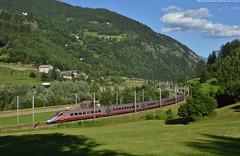 Una Freccia in Leventina (Marco Montrasio) Tags: etr61008 etr 610 frecciargento trenitalia eurocity ec quinto gottardo rampa sud val leventina svizzera treni alpi