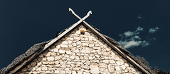 Horses to the sky (kud4ipad) Tags: 2014 pirogovo house museum architecture sky roof cloud
