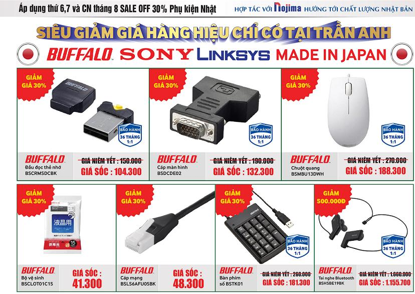 Khuyến mại cuối tuần: Siêu giảm giá hàng hiệu chỉ có tại Trần Anh