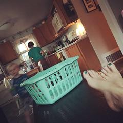 220/366 (grilljam) Tags: iphone 366days summer august2016 afterwork afterdinner dishesdone laundrydone kidsbathed timeforfeetup ifonlyfortwominutes seamus 4yrs thephotobomber graham