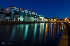 Scotch Hall and the De Lacy Bridge Drogheda (mythicalireland) Tags: drogheda boyne river scotchhall shoppingcentre delacy bridge bluehour twilight reflections water sky lights landscape city town